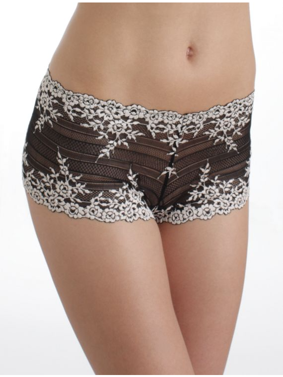 67491  Embrace Lace Boyshort |BLACK| (BK)