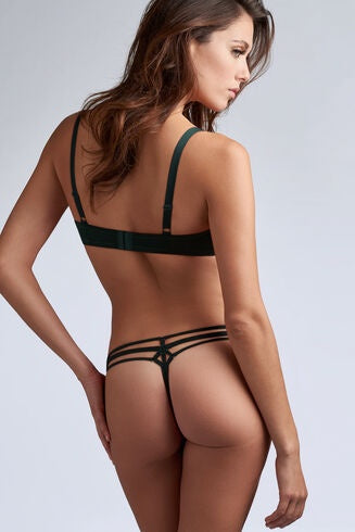 35102 Space Odyssey 4 cm Thong |PINE GREEN LACE|