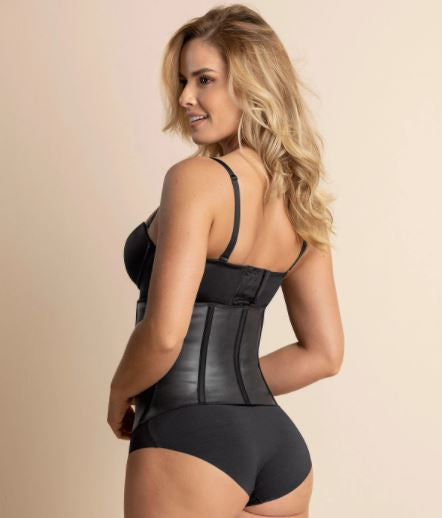 015791 Latex Waist Trainer - Extra-Firm Compression |BLACK|