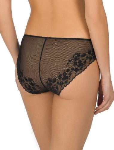 772191 Cherry Blossom French Cut Panty |BLACK| (001)