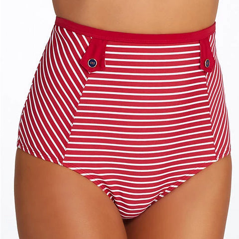 PAS0926 Britt Stripe High Waist Brief