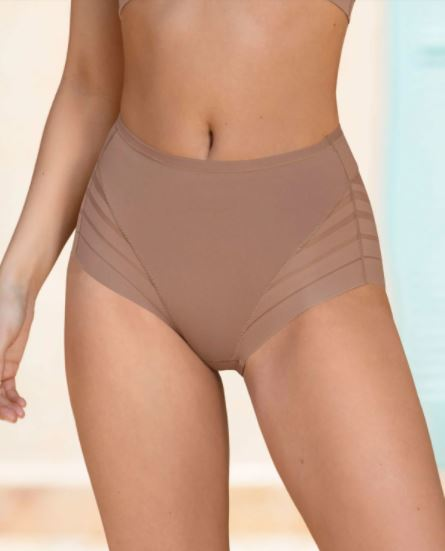 012903 Lace Stripe Undetectable Classic Shaper Panty |NATURAL|
