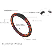 "Men's Bracelet Leather Bracelet for Men with Magnetic Clasp 8.27"" - murtoo2"