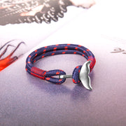 Paracord Red Bracelet for Women, Summer Surfer Mermaid Tail Nautical Bracelet for Girls and Best Friend - murtoo2