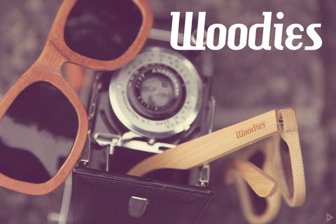 wood sunglasses and old school camera