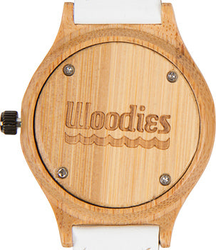 woodies bamboo watch white back