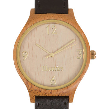 woodies bamboo watch black and gold