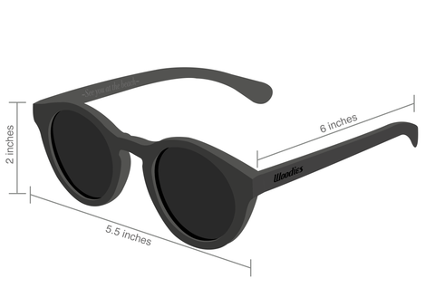 woodies sunglasses measurements