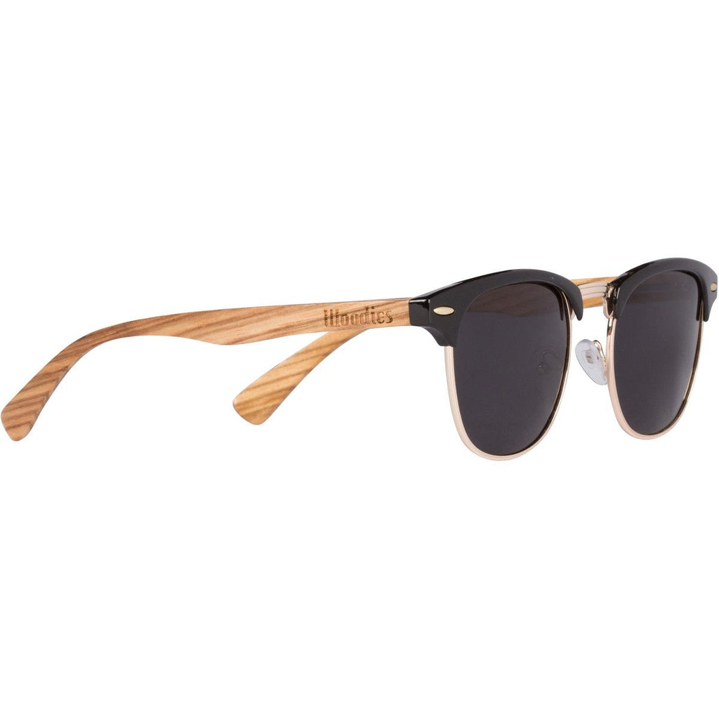 Woodies Zebra Wood Clubmaster Sunglasses , Sunglasses - 1