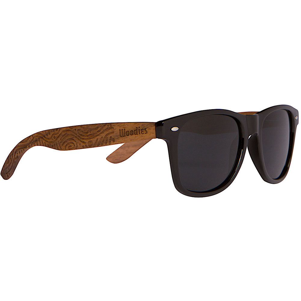 9d79835bf0 Walnut Wood Polarized Sunglasses with Hippie Engraving