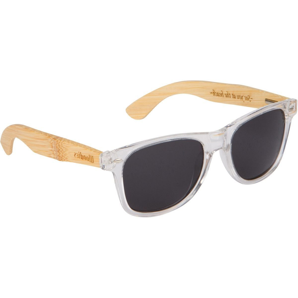 woodies bamboo wood sunglasses with clear plastic frames sunglasses 2