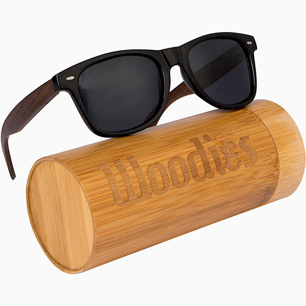 Walnut Polarized Woodfarer Sunglasses with Bamboo Tube Packaging
