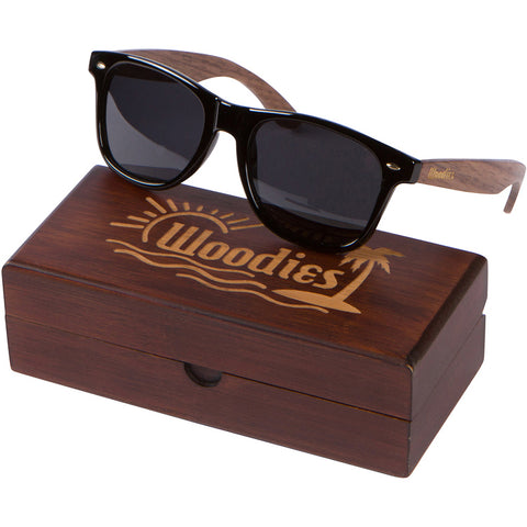 189e746d7dd7 Walnut Wood Sunglasses with Polarized Lens in Wood Display Box for Men or  Women