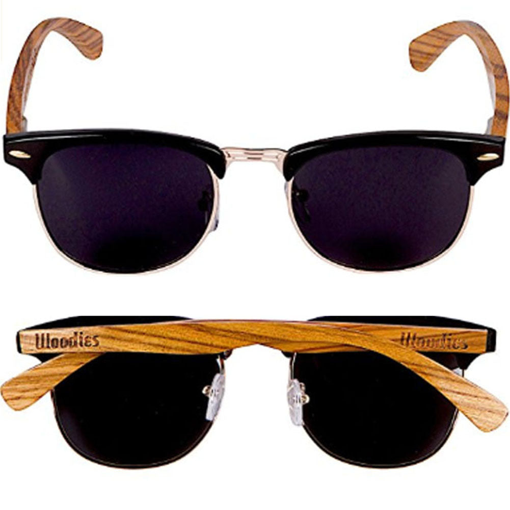 Zebra Wood Polarized Sunglasses