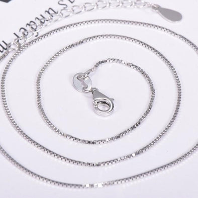 "Sterling Silver Chain for Pendants- Box Style 18"" - Nature Reflections"