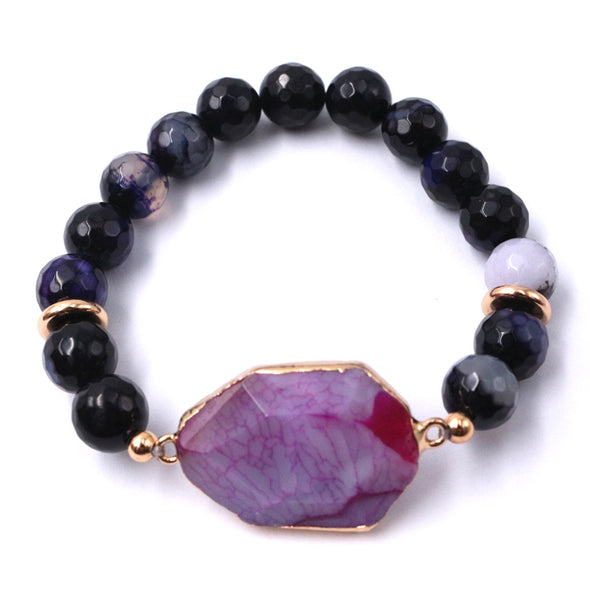 Cecily Purple Agate Bracelet - Nature Reflections