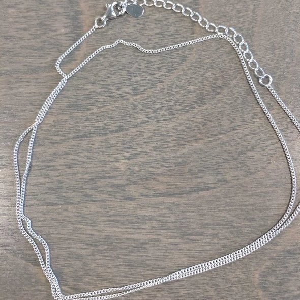 "Sterling Silver Chain for Pendants- Curb Style 16"" - Nature Reflections"