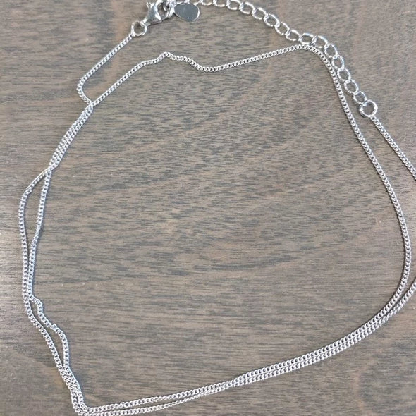 "Sterling Silver Chain for Pendants- Curb Style 18"" - Nature Reflections"