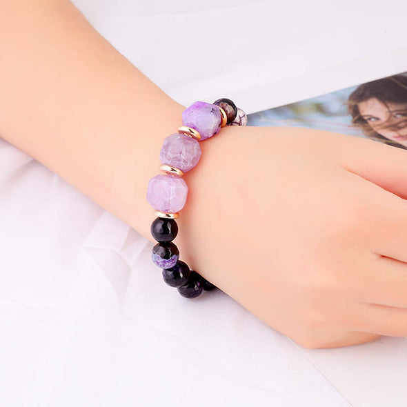 Matilda Purple Agates Bracelet - Nature Reflections