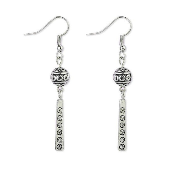 Ramona Tibetan Ball and Dangle Earrings - Nature Reflections