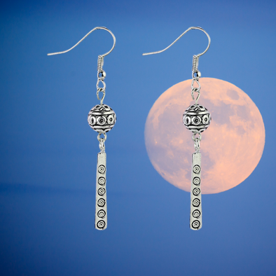 Ramona Tibetan Ball and Dangle Earrings