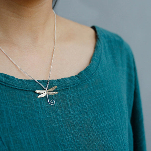 Sydney Sterling Silver Dragonfly Pendant - Nature Reflections