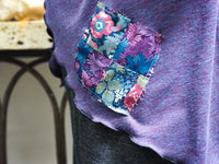 Blue Purple Patch Wrap