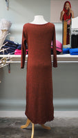 Long Sleeve Persimmon Sweater Knit Fall Dress