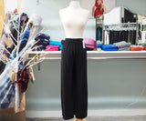 Black Flowey Wide Leg Pant