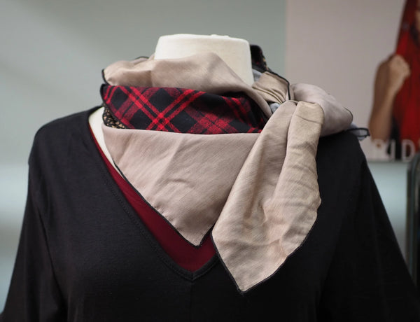 Black/Red Plaid Scarf