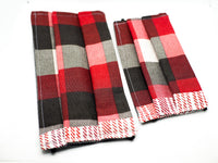 Red and Gray Plaid