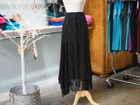 Maxi Black Lace Skirt
