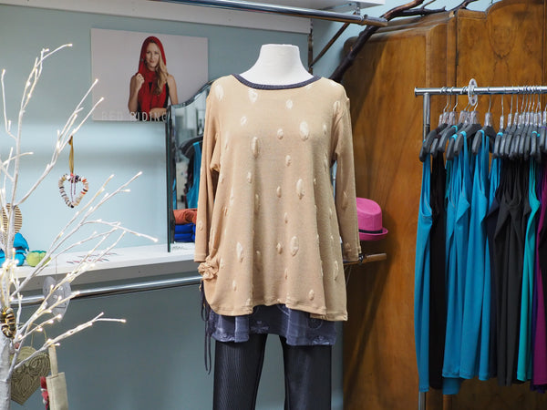 Tan Bubbles Blouse