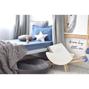 fitted cot sheet | reign blue - MUMMA + BUBBA COLLECTIVE