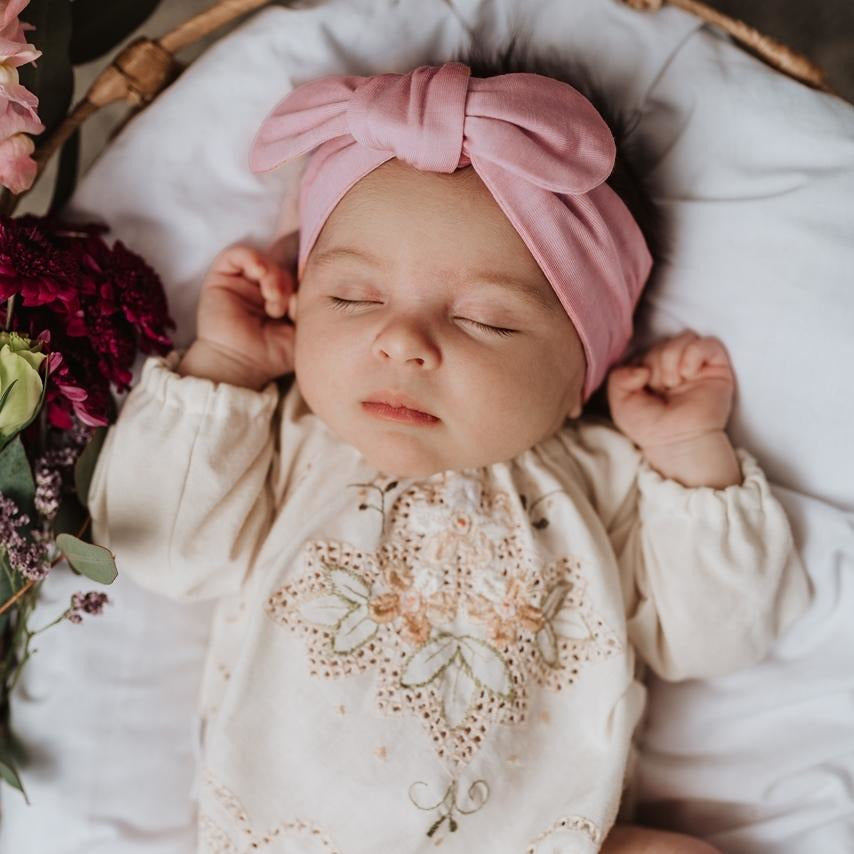 baby top knot headband | pink fantasy - MUMMA + BUBBA COLLECTIVE