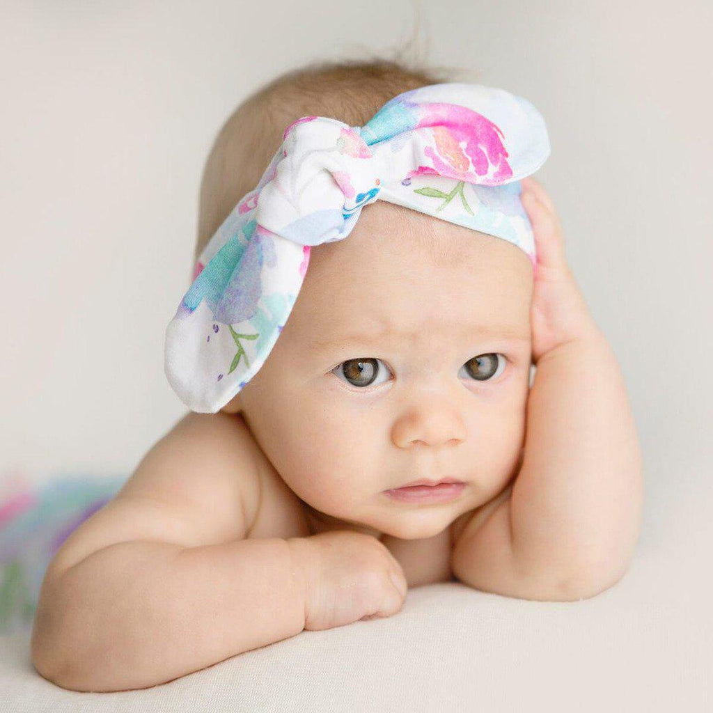 baby top knot headband | sweet petal - Mumma + Bubba Collective.