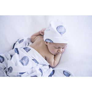 baby jersey wrap + knotted beanie set | cloud chaser - MUMMA + BUBBA COLLECTIVE