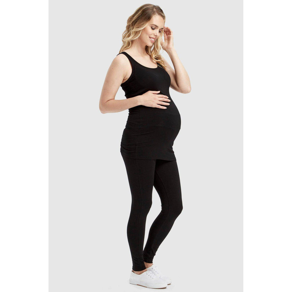 maternity leggings | soft bamboo leggings | black - MUMMA + BUBBA COLLECTIVE
