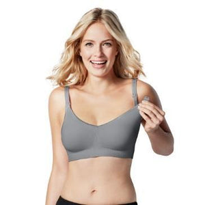 maternity + nursing bra | body silk seamless nursing bra | grey - Mumma + Bubba Collective.