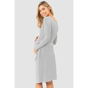 maternity dress | audrey dress | forest stripe - MUMMA + BUBBA COLLECTIVE