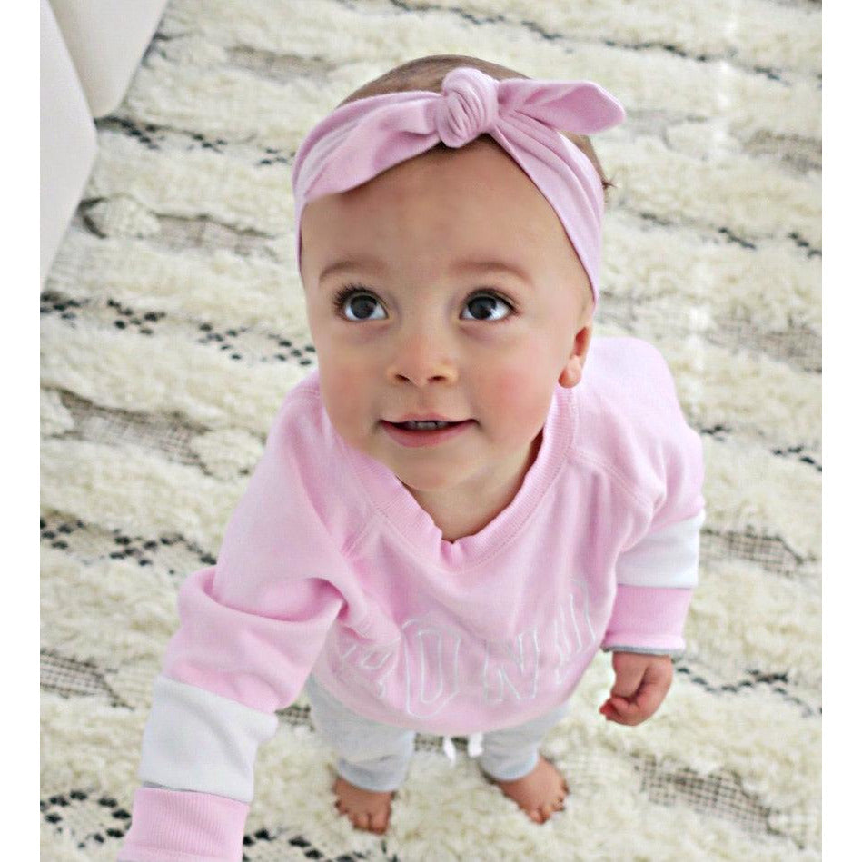 baby top knot headband | lilac - Mumma + Bubba Collective.