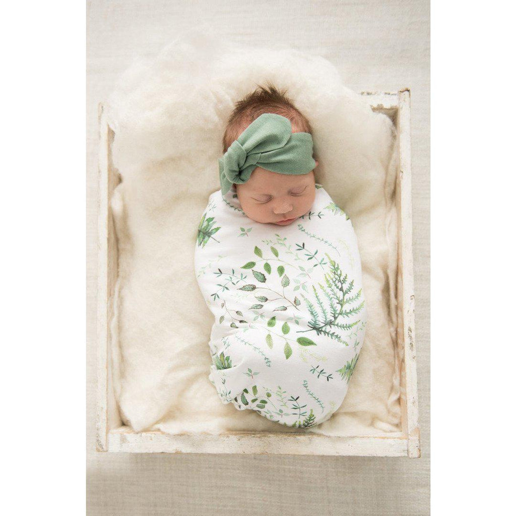 baby snuggle swaddle + knotted beanie set | enchanted - MUMMA + BUBBA COLLECTIVE