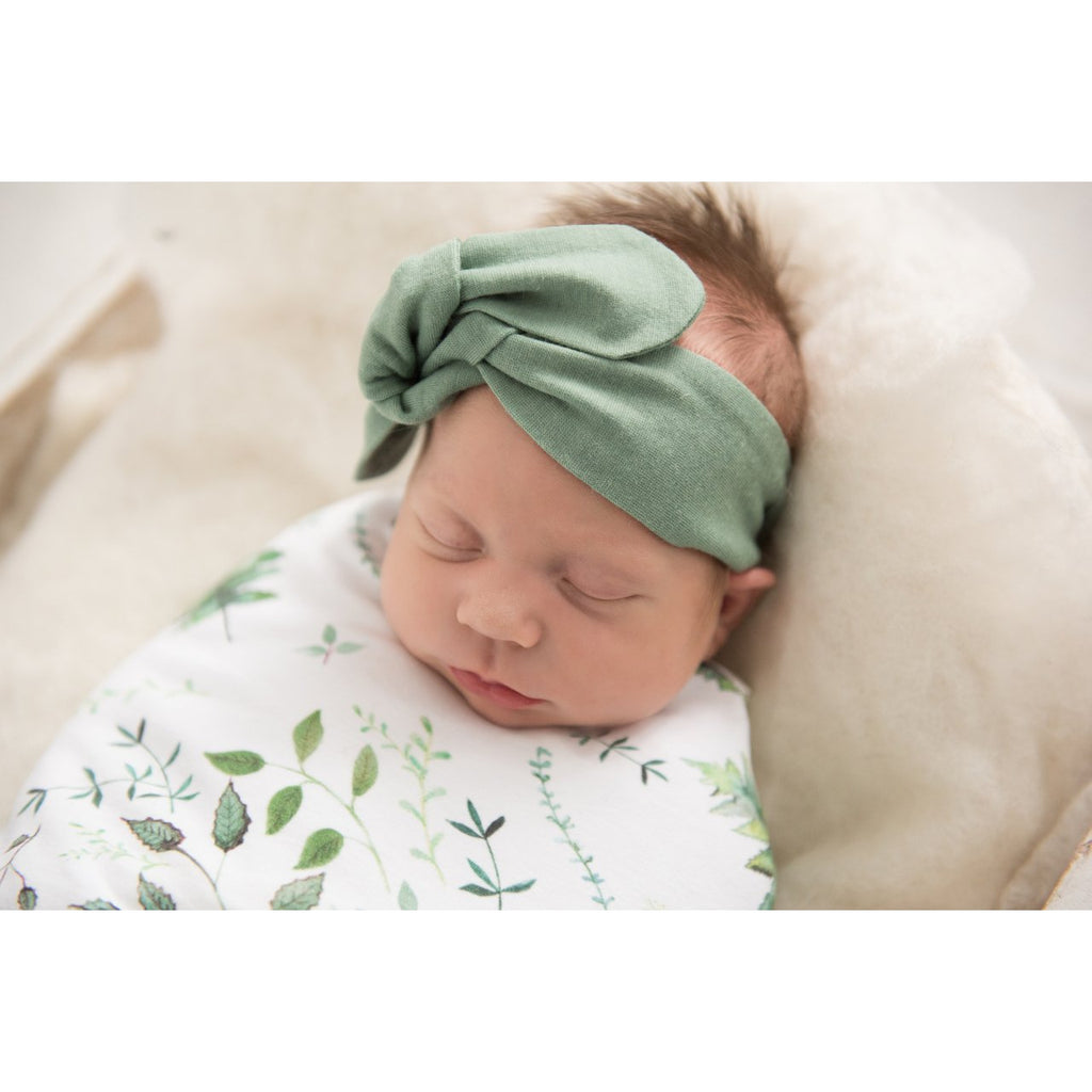 baby top knot headband | olive - Mumma + Bubba Collective.