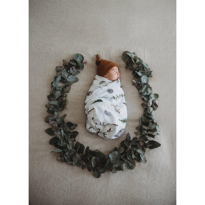baby organic muslin wrap | alpha forest animals - MUMMA + BUBBA COLLECTIVE
