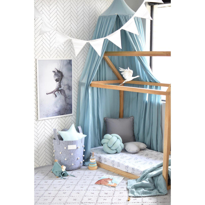 fitted cot sheet | wild fern - MUMMA + BUBBA COLLECTIVE