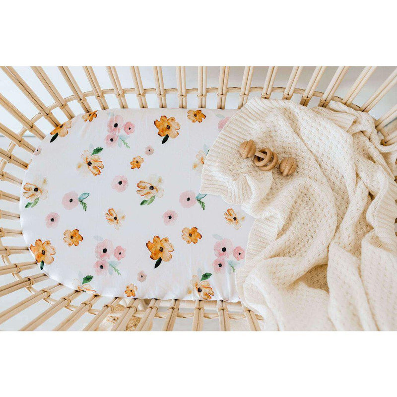 fitted bassinet sheet + change pad cover | poppy - MUMMA + BUBBA COLLECTIVE