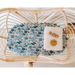 fitted bassinet sheet + change pad cover | arizona - MUMMA + BUBBA COLLECTIVE