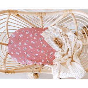 fitted bassinet sheet + change pad cover | daisy - MUMMA + BUBBA COLLECTIVE