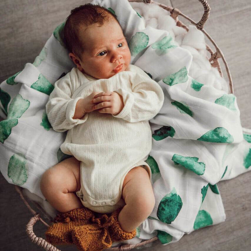 baby organic muslin wrap | sea mist - Mumma + Bubba Collective.