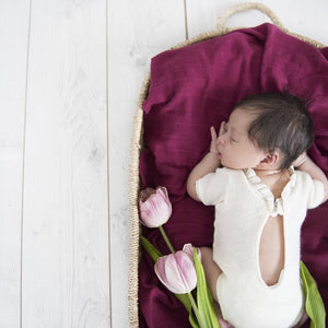 baby organic muslin wrap | ruby - MUMMA + BUBBA COLLECTIVE